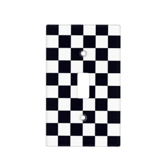 Black and White Checker Pattern Switch Plate Covers
