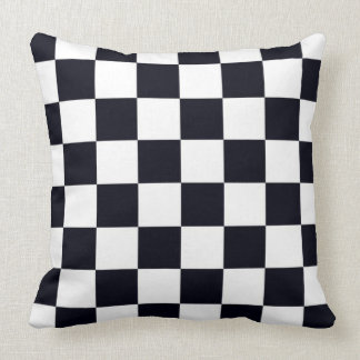 Black and White Checker Pattern Pillow