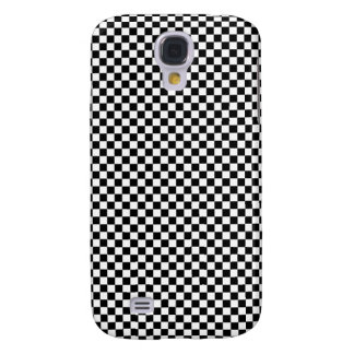 Black and White Checker Pattern Samsung S4 Case