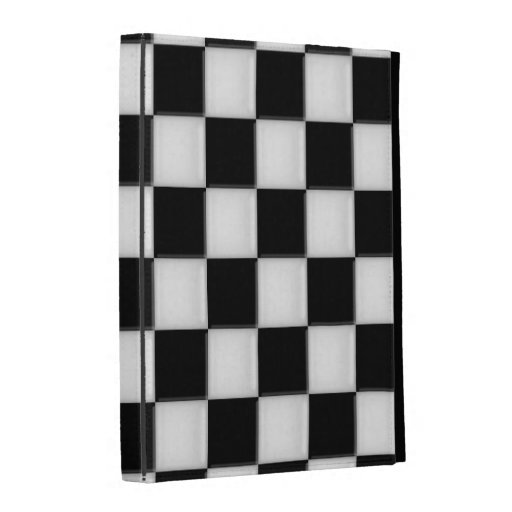 Black and White Checker patterns iPad Case