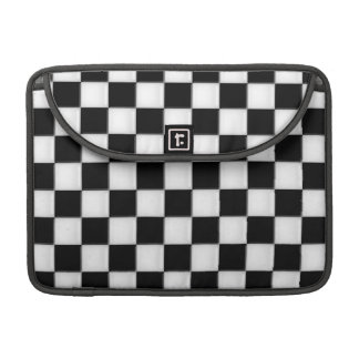 Black and White Checker patterns Sleeves For MacBooks