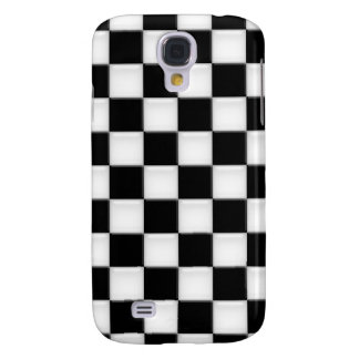 Black and White Checker patterns Samsung Galaxy S4 Cases