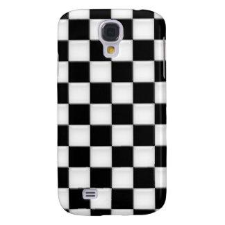 Black and White Checker patterns Samsung S4 Case