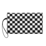 Black and White Checker patterns Wristlet Clutches