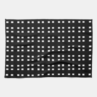 Black and White Checker Towels