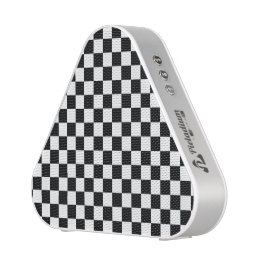 Black and White Checkerboard Bluetooth Speaker