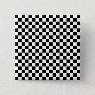 Black and White Checkerboard Button
