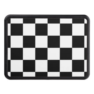 Black and White Checkerboard Checkered Flag Hitch Cover