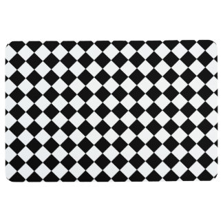 black and white floor mat