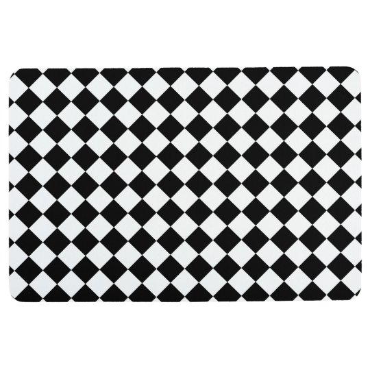 black and white checkerboard floor mat. Black Bedroom Furniture Sets. Home Design Ideas