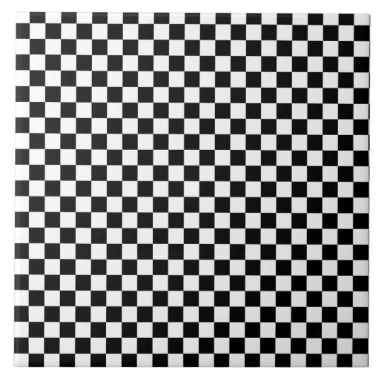 black and white checkerboard pattern ceramic tile. Black Bedroom Furniture Sets. Home Design Ideas