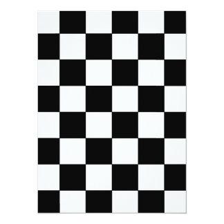 Black and White Checkerboard Retro Hipster Card
