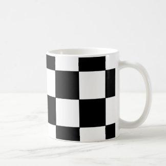 Black and White Checkerboard Retro Hipster Coffee Mug