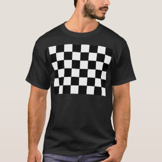 Black and White Checkerboard Retro Hipster T-Shirt