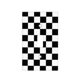 Black and White Checkerboard Switch Plate Covers