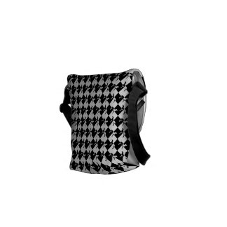 Black and White Checkerboard Weimaraner Courier Bag
