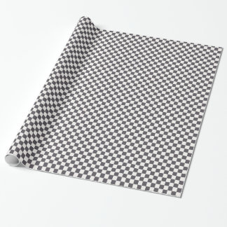 Black and White Checkerboard Gift Wrap