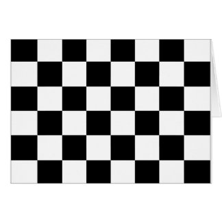 Black and White Checkered Auto Racing Flag Cards