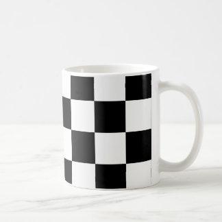 Black and White Checkered Auto Racing Flag Coffee Mug