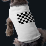 """Black and White Checkered Auto Racing Flag Shirt<br><div class=""""desc"""">The most famous flag in auto racing, this flag is waved from the start tower to announce the end of a race. The first driver to pass this flag wins the race. Sign up to Mr. Rebates for FREE and save 12% on any zazzle order in addition to a $5.00...</div>"""