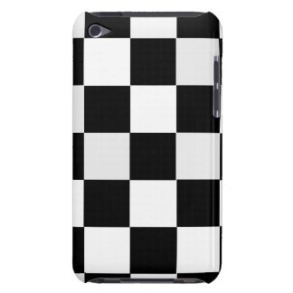 Black and White Checkered Barely There iPod Case