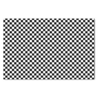 """Black And White Checkered Board Pattern 10"""" X 15"""" Tissue Paper"""