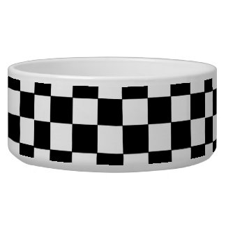 Black And White Checkered Bowl