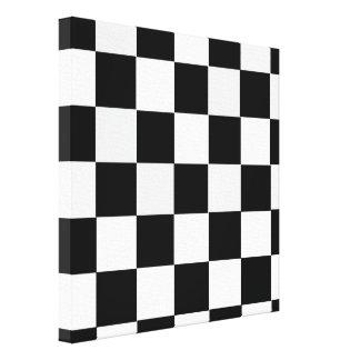 Black and White Checkered Canvas Print
