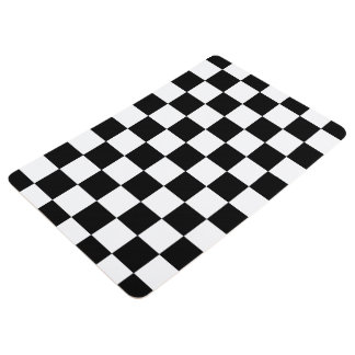 Checkered floor mats zazzle for Black and white check floor
