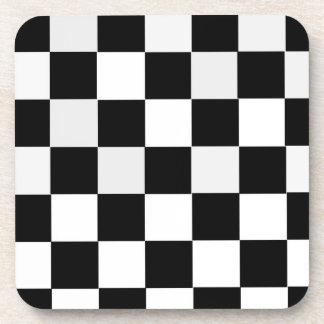 Black and White Checkered Coaster