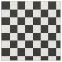 Black and White Checkered Fabric
