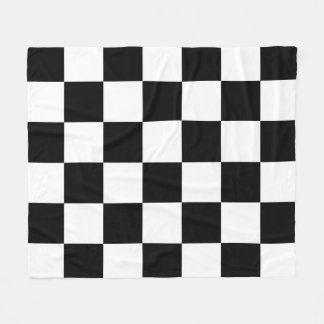 Black and White Checkered Fleece Blanket
