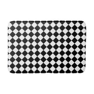 Black and White Checkered Foam Bath Mat