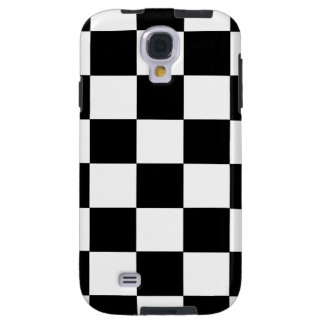 Black And White Checkered Galaxy S 4 Case