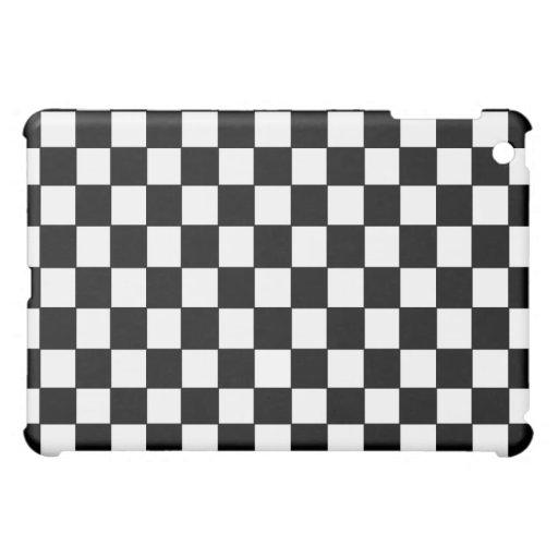 Black and White checkered - iPad 1 Case Case For The iPad Mini