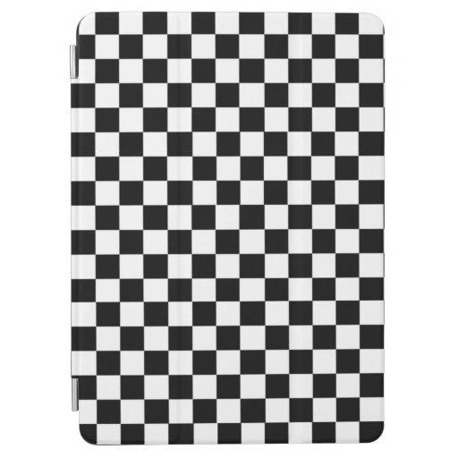Black And White Checkered iPad Air Cover