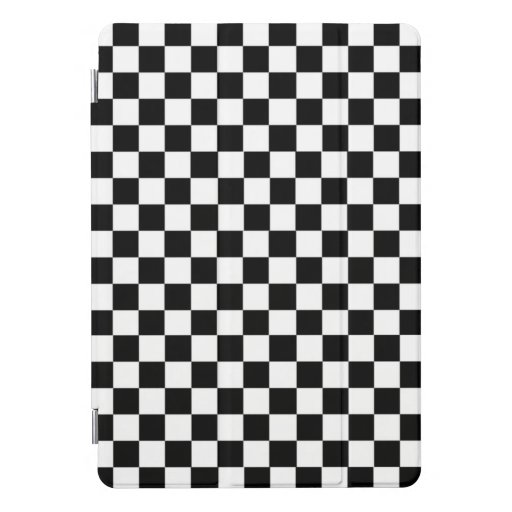 Black And White Checkered iPad Pro Cover
