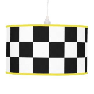 Black And White Checkered Lamp