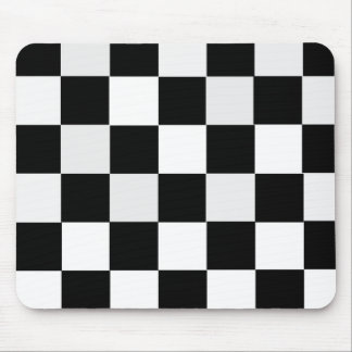Black and White Checkered Mouse Pad