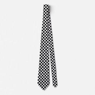 Black And White Checkered Neck Tie