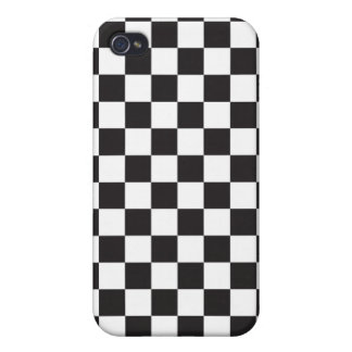 Black and White Checkered Pattern Cover
