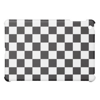 Black and White Checkered Pattern Cover iPad Mini Covers