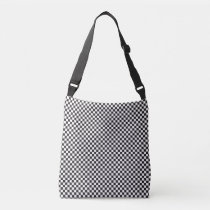 Black And White Checkered Pattern Cross Body Bag