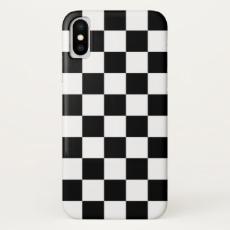 Black and White Checkered Pattern Design iPhone X Case