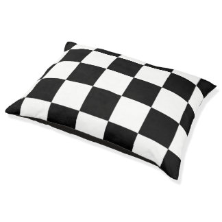 Black And White Checkered Pattern Dog Bed