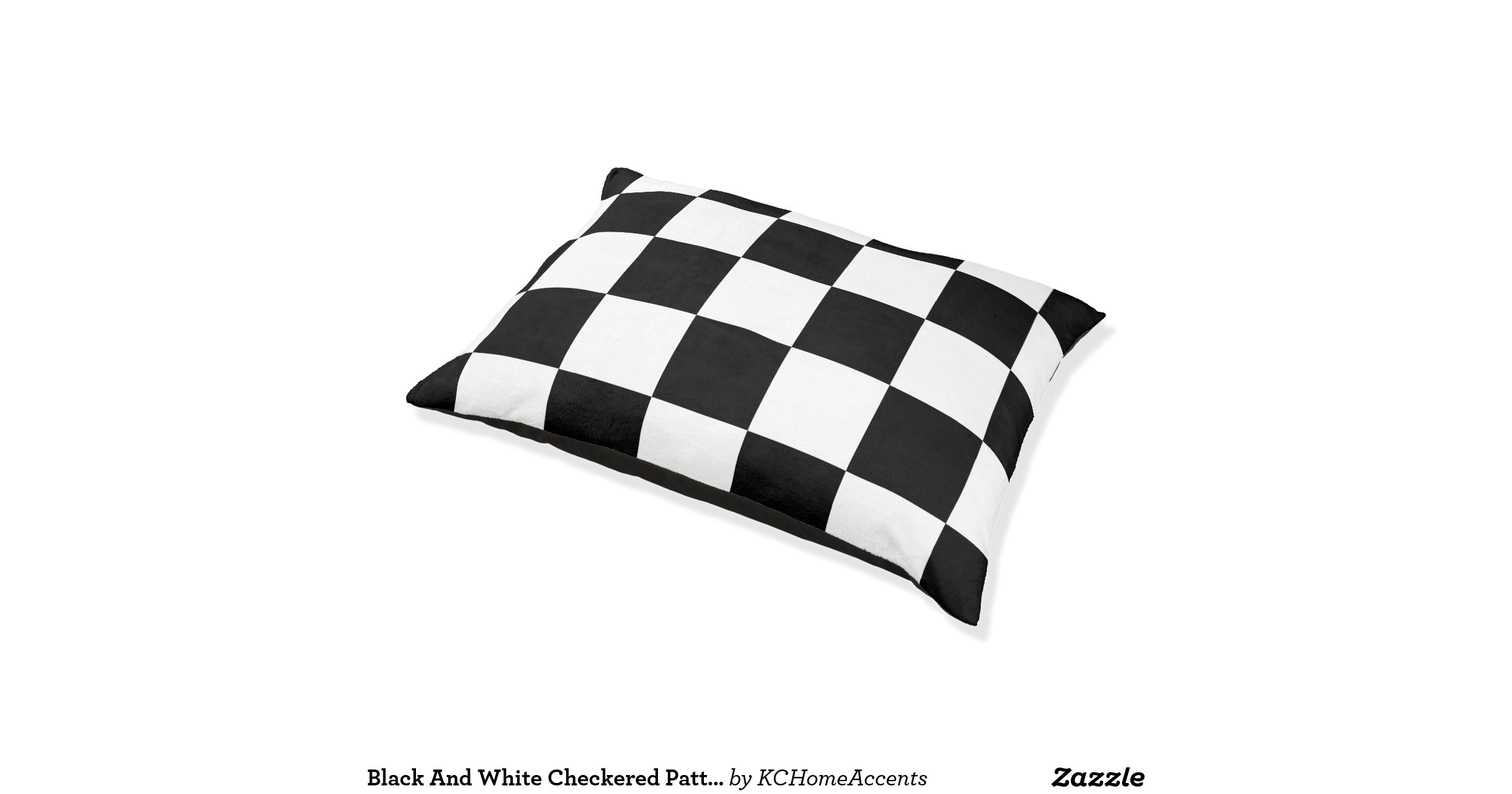 Black And White Checkered Dog Bed