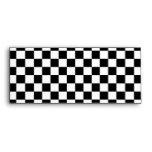 Black and white checkered pattern envelope