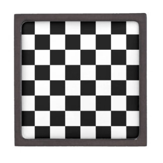 Black and White Checkered Pattern Gifts Gift Box