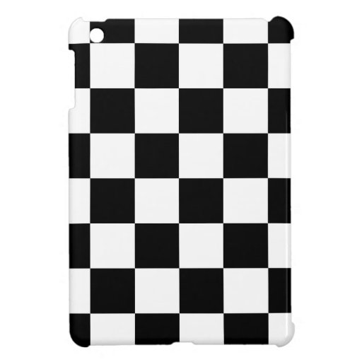 Black and White Checkered Pattern Gifts iPad Mini Case
