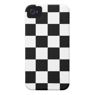 Black and White Checkered Pattern Gifts iPhone 4 Cover